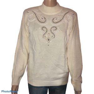 Vintage Alfred Dunner embellished sweater